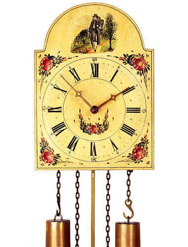 Cuckoo clock, hand painted shield style