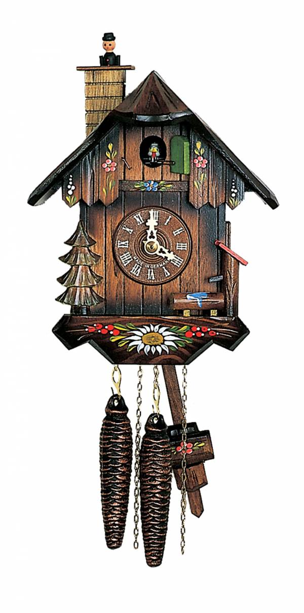 Cuckoo clock with moving sweep