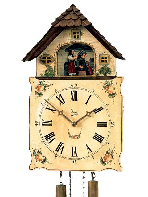 Shield style Cuckoo clock, wife, rolling pin