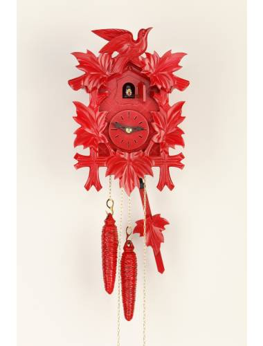 Red painted Cuckoo clock