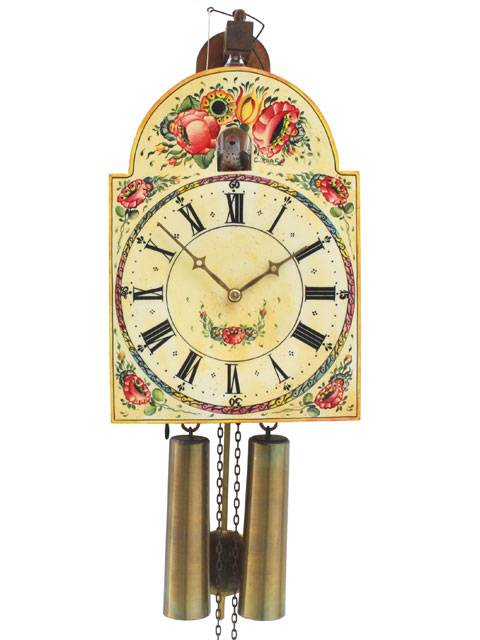 Shield style Cuckoo clock with visible bellows