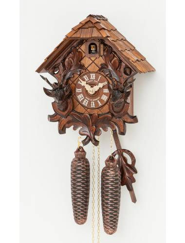 Cuckoo clock with Stag and antlers