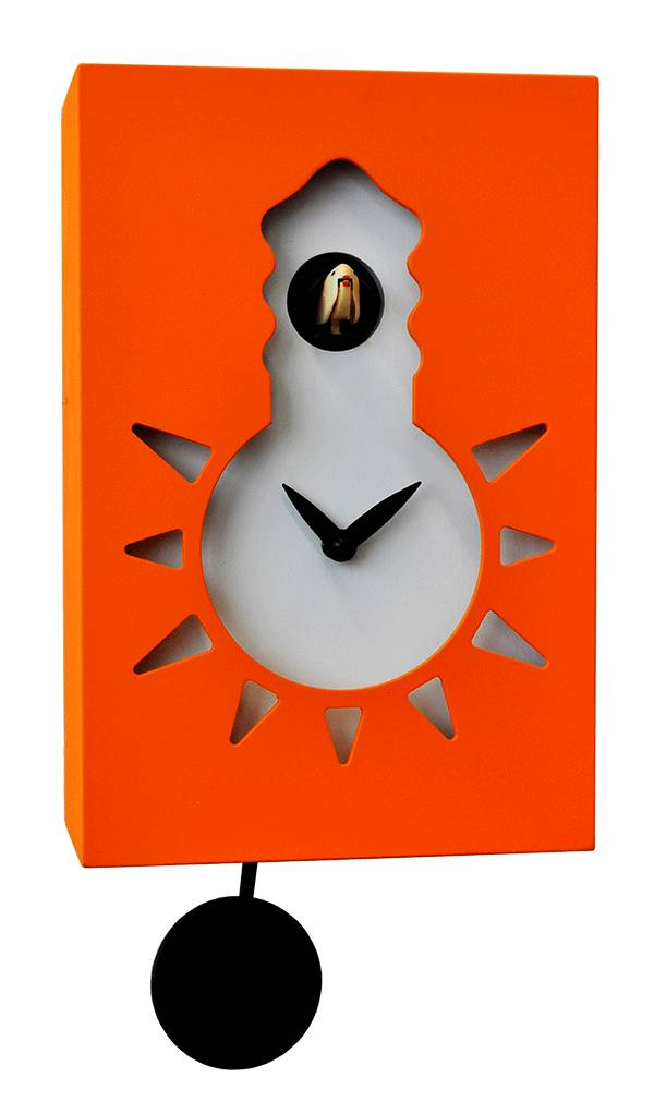 Orange Cuckoo clock, Cucu Night and Day