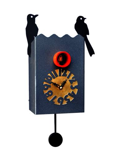 Cuckoo clock, black Cucu Duetto